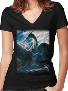Saphira The Dragon From The Hit Eragon Movie Women's Fitted V-Neck T-Shirt