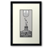 New York City Seal - Statue of Liberty Framed Print