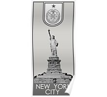 New York City Seal - Statue of Liberty Poster