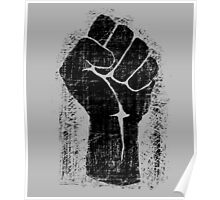 Dirt Fist Grunge Distressed Style Poster