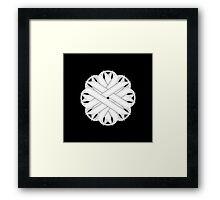 White Flower Ribbon Framed Print