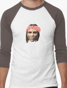 Lydia Flower Crown Men's Baseball ¾ T-Shirt