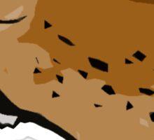 Roaring cheetah sticker Sticker