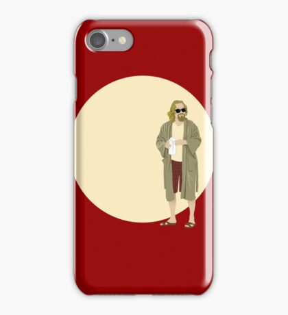 The Dude The big Lebowski Circle iPhone Case/Skin
