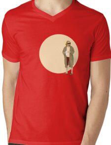 The Dude The big Lebowski Circle Mens V-Neck T-Shirt