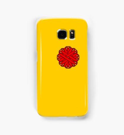 Red Flower Ribbon Samsung Galaxy Case/Skin