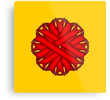Red Flower Ribbon Metal Print