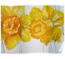 Daring Daffodils Poster