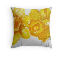 Daring Daffodils Throw Pillow