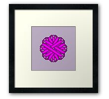 Purple Flower Ribbon Framed Print