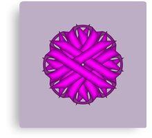 Purple Flower Ribbon Canvas Print