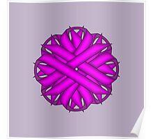Purple Flower Ribbon Poster