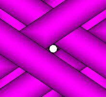 Purple Flower Ribbon Sticker