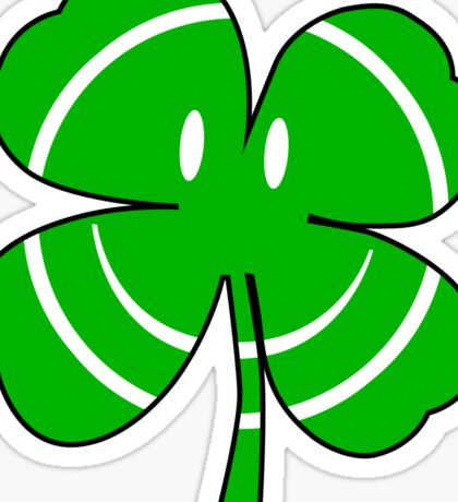 Happy Irish Shamrock Sticker