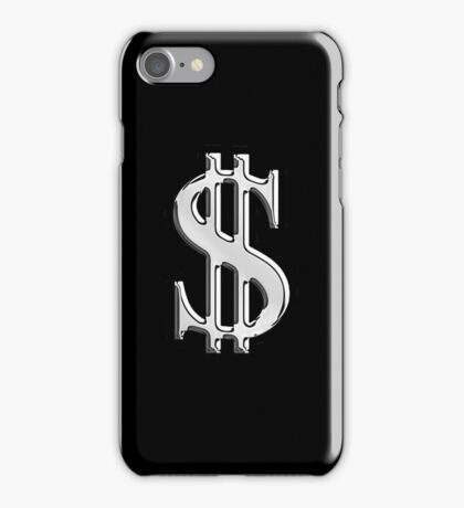 Chrome Style Dollar Sign iPhone Case/Skin