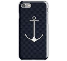 Chrome Style Nautical Thin Anchor Applique iPhone Case/Skin