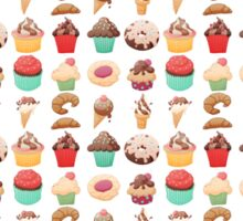 Dessert Pattern Sticker