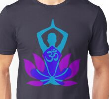 OM Namaste Yoga Pose Lotus Flower Unisex T-Shirt