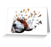 Geometric Red Panda Greeting Card