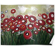 Whimsical Poppy Poster