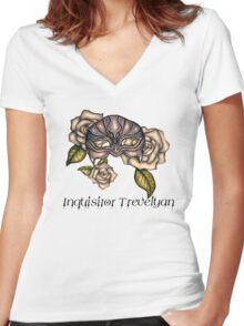 Dragon Age Inquisition- Human- Inquisitor Trevelyan Women's Fitted V-Neck T-Shirt