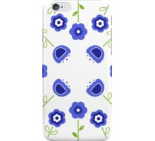 Blue flowers ( inspired by Slovakia ) iPhone Case/Skin