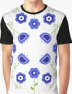 Blue flowers ( inspired by Slovakia ) Graphic T-Shirt