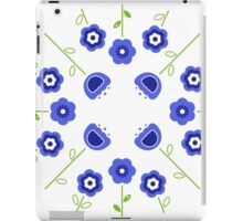 Blue flowers ( inspired by Slovakia ) iPad Case/Skin