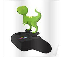 Toy T-Rex Gamer Poster