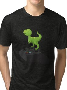 Toy T-Rex Gamer Tri-blend T-Shirt
