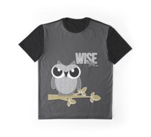 Wise Guy Owl Scrapbook Glitter Style Graphic T-Shirt
