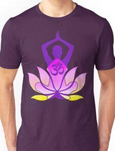 OM Namaste Yoga Pose Lotus Flower Unisex T-Shirt