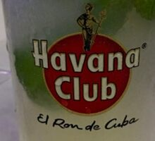 Cuba - Old Havana - El Ron de Cuba Sticker