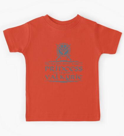 My mother didn't raise a princess, she trained a valkyrie Kids Tee