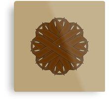 Brown Flower Ribbon Metal Print