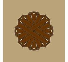 Brown Flower Ribbon Photographic Print