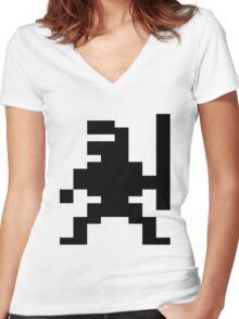 Ninja Bruce Lee C64 Women's Fitted V-Neck T-Shirt