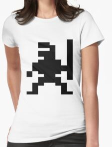 Ninja Bruce Lee C64 Womens Fitted T-Shirt