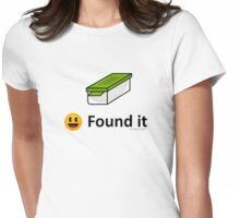 Found It - Geocache Box & Smiley Face Icon Womens Fitted T-Shirt