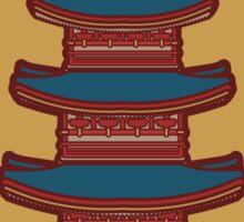Japanese Pagoda Sticker