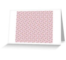 Cartoon Pink Pig Pattern Greeting Card