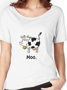 Cartoon Cow Moo Women's Relaxed Fit T-Shirt