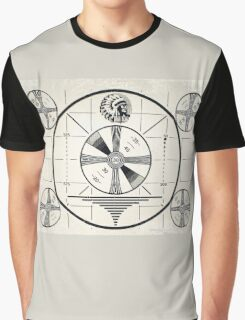 Retro TV Monoscope Test Pattern Graphic T-Shirt