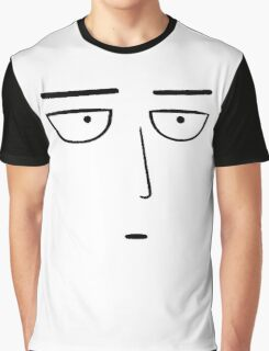 One Punch Man - Saitama OK. - Black on White Graphic T-Shirt