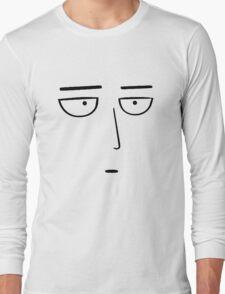 One Punch Man - Saitama OK. - Black on White Long Sleeve T-Shirt