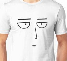 One Punch Man - Saitama OK. - Black on White Unisex T-Shirt