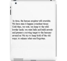 Dragon Age Elven Quote iPad Case/Skin