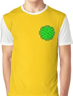 Lime Green Flower Ribbon Graphic T-Shirt