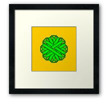Lime Green Flower Ribbon Framed Print