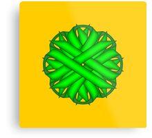 Lime Green Flower Ribbon Metal Print
